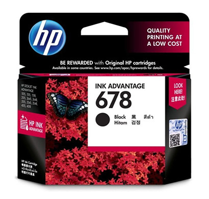 hp 678 blk (cz107aa) black original ink advantage cartridge